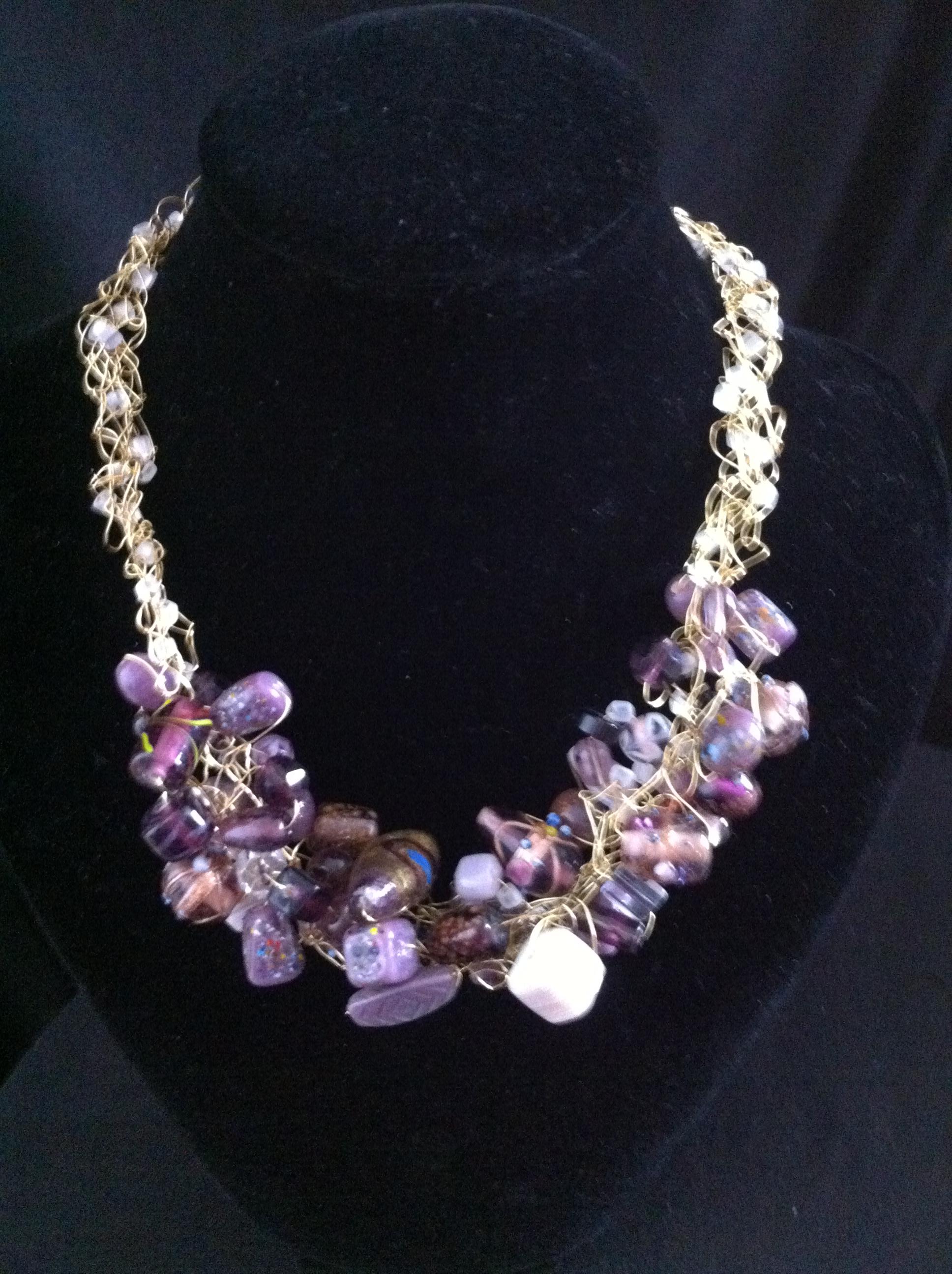 Purple Power Necklace & Earring Set | Janell Jewellry