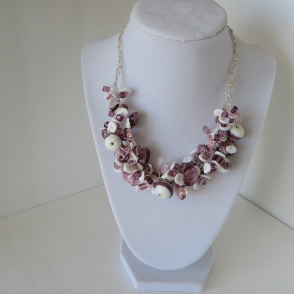 Purple and Pink Necklace & Earrings