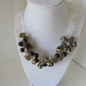 Brown and Taupe Necklace