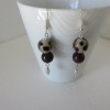 Brown and Taupe Earrings