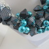 Turquoise and Charcoal Grey Necklace