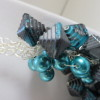 Turquoise and Charcoal Necklace