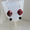 Black & Red Earrings