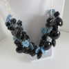 Denim Blue & Black Necklace