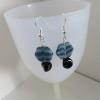Denim Blue & Black Earrings