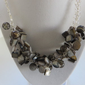 Grey on Grey Necklace
