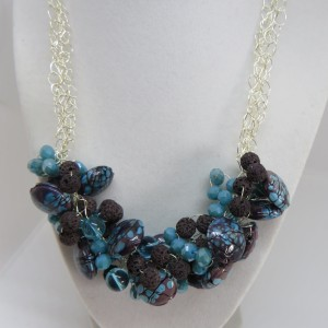 Turquoise and brown beads.