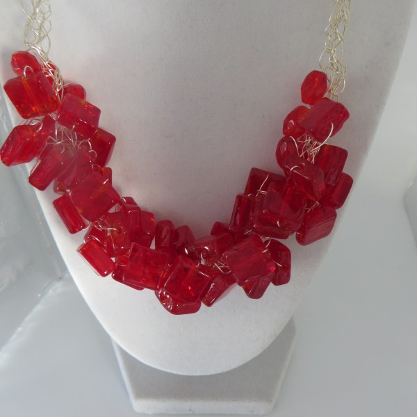 Red and Red Necklace