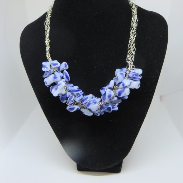 Beautiful Blue and White Necklace