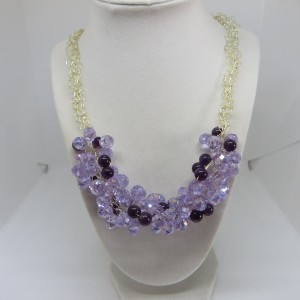Lilac and Purple Necklace