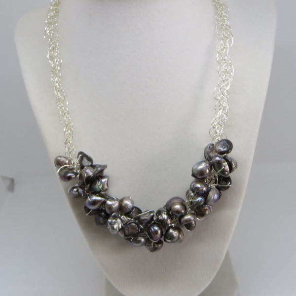 Iridescent Brown Necklace