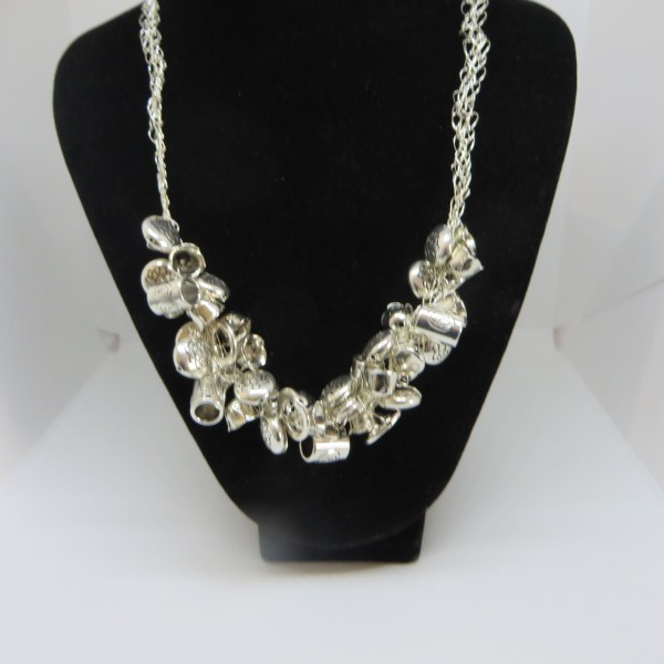 All Siver Necklace