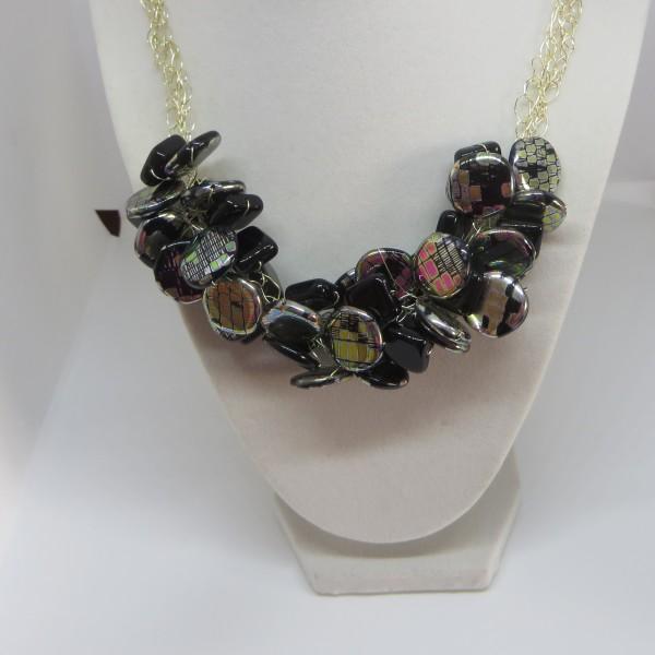 Black Iridescent Necklace