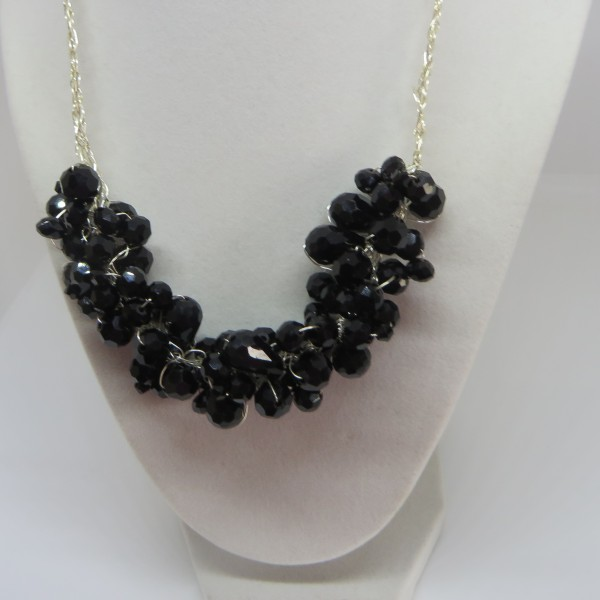 Black and Black Necklace
