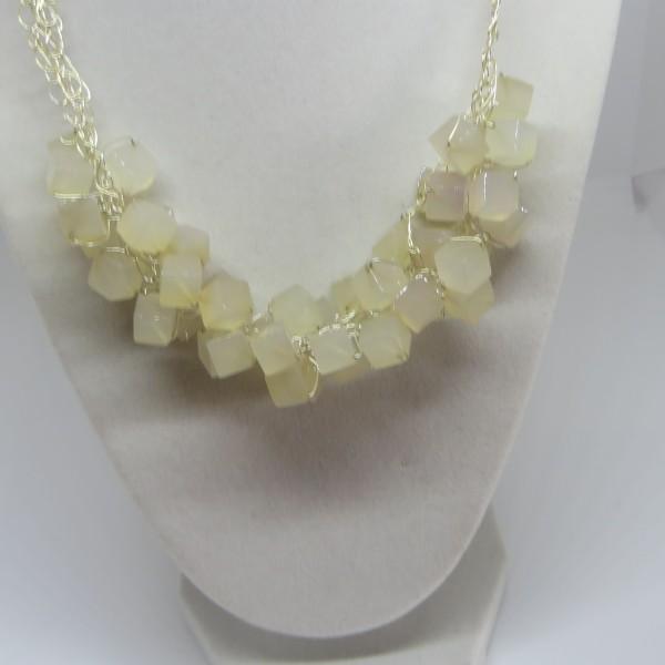 Agate Cubes Necklace