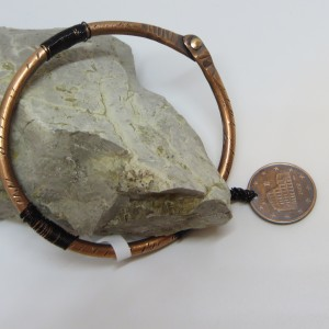 Copper Bangle with a Penny