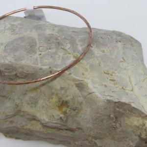 Thin Copper Bangle Bracelet